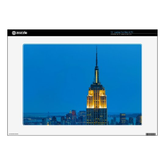 "Empire State Building at Sunset Skins For 15"" Laptops"