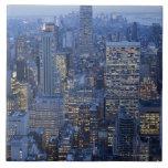 Empire State Building Azulejo Cuadrado Grande