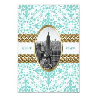 Empire State Building B&W 01 RSVP card