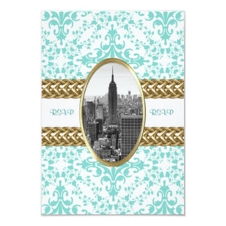 Empire State Building B&W Invitation 01 RSVP Card