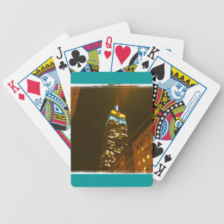 Empire State Building Bicycle Playing Cards