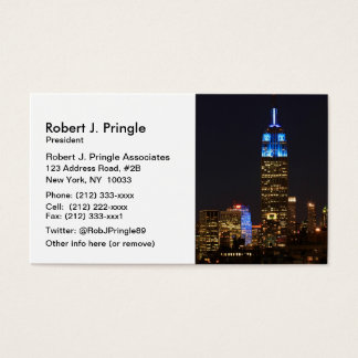 Empire State Building Blue for Autism 2012 Business Card
