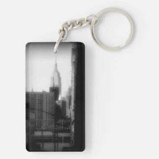 Empire State Building bw keychain