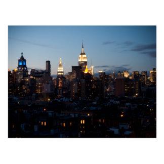 Empire State Building Cityscape Postcard