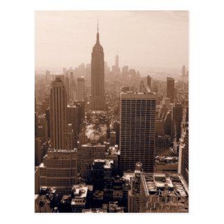 Empire State Building de la sepia de Rockefeller Postales