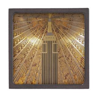 Empire State Building del art déco Caja De Recuerdo De Calidad