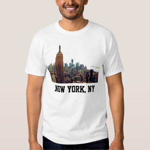 Empire State Building del horizonte de la ciudad Camisas