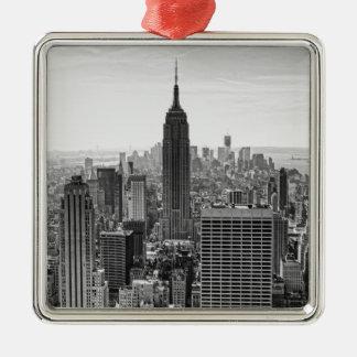 Empire State Building del horizonte de la ciudad d Ornamento Para Arbol De Navidad