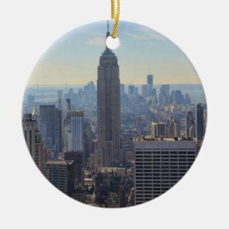Empire State Building del horizonte de la ciudad d Ornamentos De Reyes Magos
