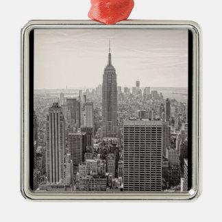 Empire State Building del horizonte de la ciudad d Ornamento Para Reyes Magos