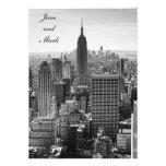 Empire State Building del horizonte de la ciudad d Invitación