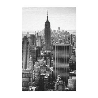 Empire State Building del horizonte de la ciudad d Impresión De Lienzo