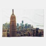 Empire State Building del horizonte de la ciudad d Toallas