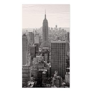 Empire State Building del horizonte de la ciudad d Plantilla De Tarjeta De Visita