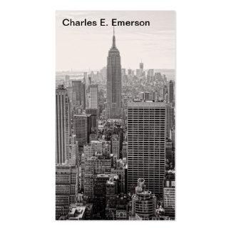 Empire State Building del horizonte de la ciudad d Plantilla De Tarjeta De Negocio