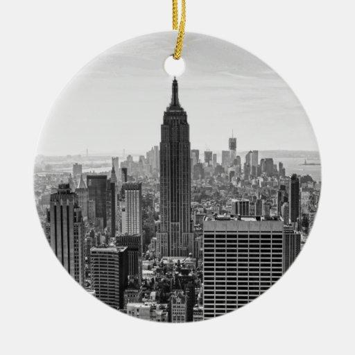 Empire State Building del horizonte de la ciudad Ornamento Para Reyes Magos