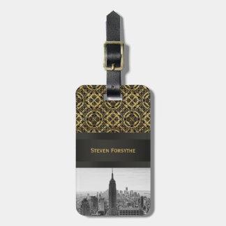 Empire State Building del horizonte de la ciudad Etiquetas De Equipaje