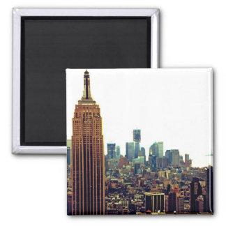 Empire State Building del horizonte de la ciudad Imán Para Frigorifico