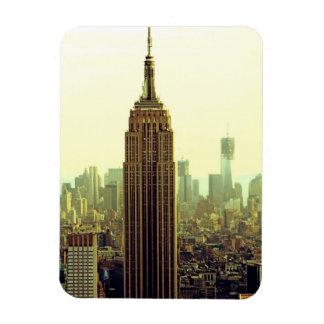 Empire State Building del horizonte de la ciudad Imán Rectangular