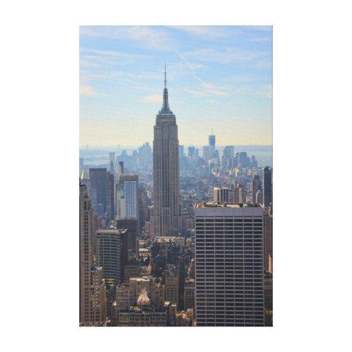 Empire State Building del horizonte de la ciudad Impresiones De Lienzo