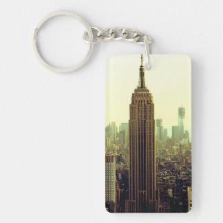 Empire State Building del horizonte de la ciudad Llavero