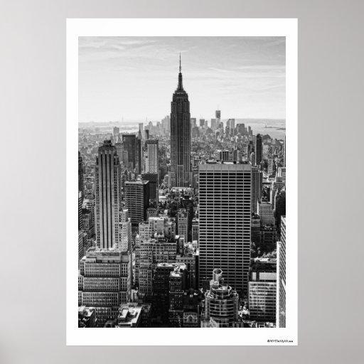 Empire State Building del horizonte de la ciudad Impresiones