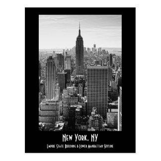 Empire State Building del horizonte de la ciudad Postales