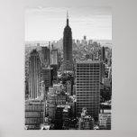 Empire State Building del horizonte de la ciudad Póster