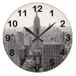 Empire State Building del horizonte de la ciudad Reloj Redondo Grande