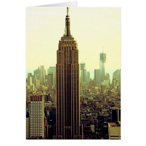 Empire State Building del horizonte de la ciudad Tarjeta De Felicitación