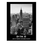 Empire State Building del horizonte de la ciudad Postal