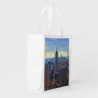 Empire State Building del horizonte de NYC, Bolsa Reutilizable