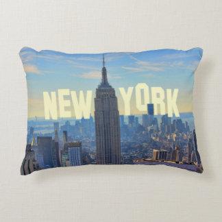 Empire State Building del horizonte de NYC, Cojín Decorativo