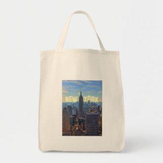 Empire State Building del horizonte de NYC, comerc Bolsas