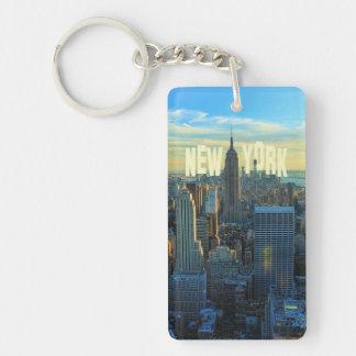 Empire State Building del horizonte de NYC, comerc Llavero