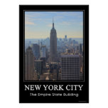 Empire State Building del horizonte de NYC, comerc Poster