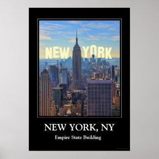 Empire State Building del horizonte de NYC, comerc Impresiones