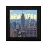 Empire State Building del horizonte de NYC, Joyero Cuadrado Pequeño