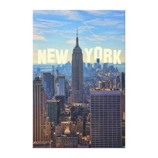 Empire State Building del horizonte de NYC, Lona Estirada Galerías