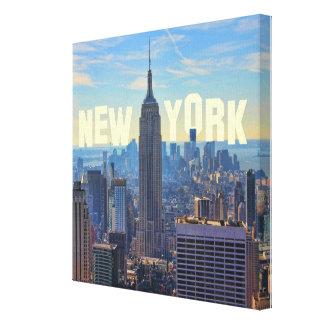 Empire State Building del horizonte de NYC, Lienzo Envuelto Para Galerías
