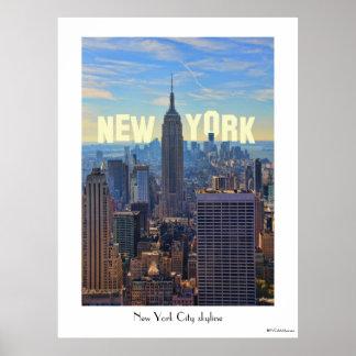 Empire State Building del horizonte de NYC, Poster
