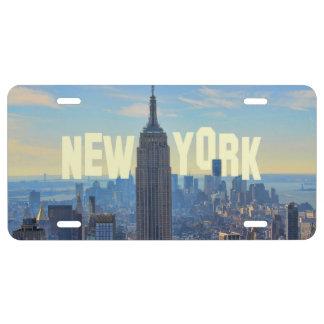 Empire State Building del horizonte de NYC, Placa De Matrícula