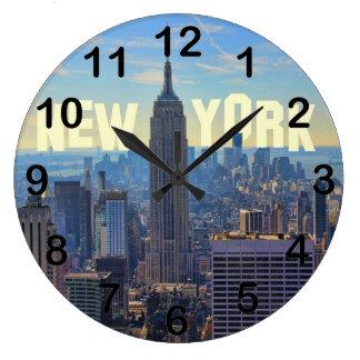 Empire State Building del horizonte de NYC, Reloj De Pared