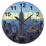 Empire State Building del horizonte de NYC, Reloj Redondo Grande
