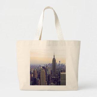 Empire State Building del horizonte de NYC, WTC 4 Bolsa Tela Grande