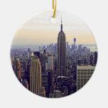 Empire State Building del horizonte de NYC, WTC 4 Ornamento De Reyes Magos