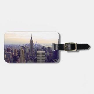 Empire State Building del horizonte de NYC, WTC 4 Etiquetas De Maletas