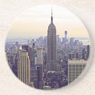 Empire State Building del horizonte de NYC, WTC 4 Posavasos Manualidades