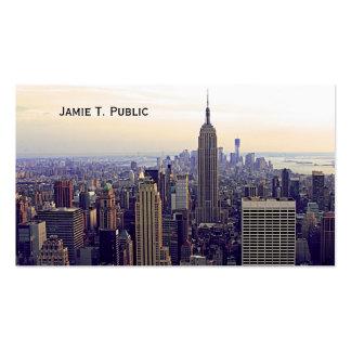 Empire State Building del horizonte de NYC, WTC 4 Tarjeta De Visita