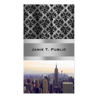 Empire State Building del horizonte de NYC, WTC 4 Tarjetas De Negocios